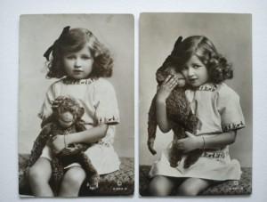 girl with monkey 1915