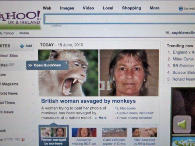 woman savaged by monkey
